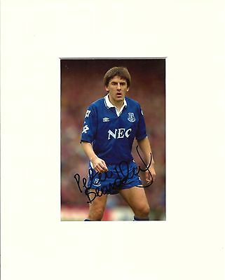 A 10 x 8 inch mount, personally signed by Everton player Peter Beardsley.