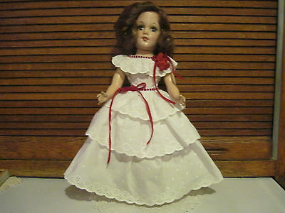 """MARY HOYER DRESS FOR SPRING! CUTE WHITE EYELET LAYERED RUFFLE FOR THE 14"""" HOYER!"""