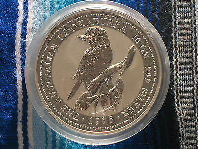 1995 KOOKABURRA 10 OZ 999 SILVER COIN. Only 9894 minted. Stunning and pristine