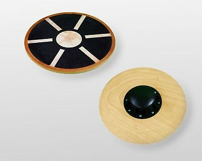 BodyRip WOODEN BALANCE BOARD 40cm WOBBLE REHABILITATION FITNESS EXERCISE GYM