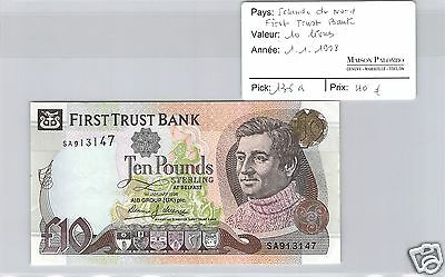 Irlande Du Nord - First Trust Bank - 10 Livres - 1.1.1998 - Pick 136A