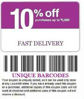 5 Lowes 10% OFF Coupons May 7 Very Fast Shipping
