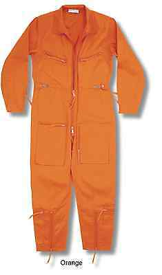 New Pilots Flight Suit Continental Aviator Flying Coverall Raf Boilersuit Orange