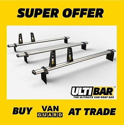 NISSAN NV200 ROOF BARS 3x VAN GUARD ULTI bars VG282-3