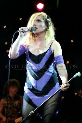 Deborah Harry Blondie Photo 8x12 or 8x10 in '80s Live Concert Pro Fuji Print 16