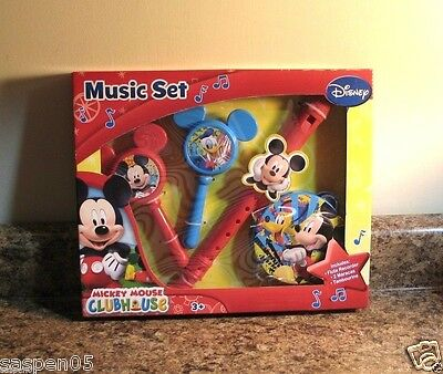 Disney Mickey Mouse Clubhouse  Boxed Music Set Musical Instruments Pretend NEW