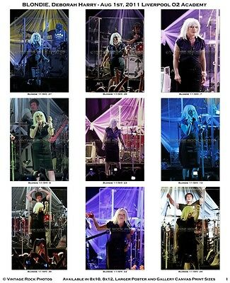 Deborah Harry Blondie Photos 4x6 inch Set of 36 Prints 2011 Liverpool UK Concert