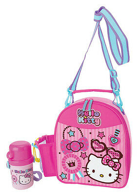 NEW AUTHENTIC SANRIO HELLO KITTY INSULATED LUNCH BAG W/ WATER BOTTLE lovely