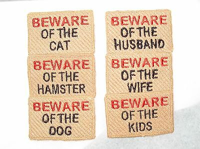 1 x Handmade Beware Of The ... Doll House Door Mat Dolls House 1:12 Scale