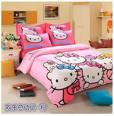 Hello Kitty forter and Sheet Set Twin Size Bedding