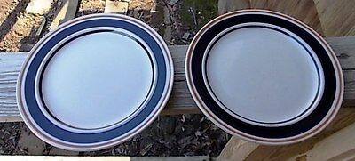 ~~Lot Of 2  Vintage Newcor Satellite Cobalt 188 Salad Plates ~~ Oven To Table ~~