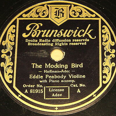 "EDDIE PEABODY ""The Mocking Bird"" Brunswick 78rpm 10"""