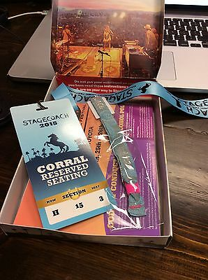 1 Stagecoach Ticket VIP Corral, 3 day pass, Row H, Section 15, Seat 3, 4/24/15