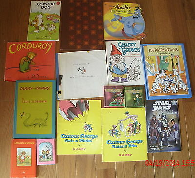 Lot of Children's Kid's Books Picture Stories Vintage Hardcover Softcover