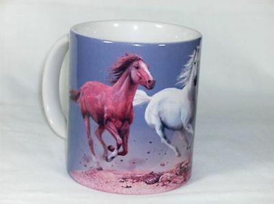 Trio of Horses 11 OZ. Ceramic Coffee Mug or Tea Cup