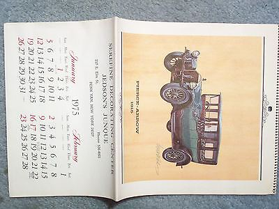 1975 AUTOMOTIVE CALENDAR VINTAGE ANTIQUE OLD CARS PIERCE ARROW, WINTON, ETC.