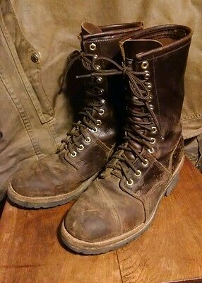 Amazing Roadwolf Logger Boots Vibram Soles A Must See 9.5W