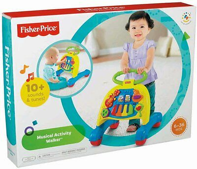 NIB FISHER-PRICE BRILLIANT BASICS MUSICAL ACTIVITY WALKER V3254 6 MOS - 3 YRS
