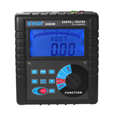 ETCR3000B Digital Clamp On Ground Earth Resistance Tester Meter ETCR3000B