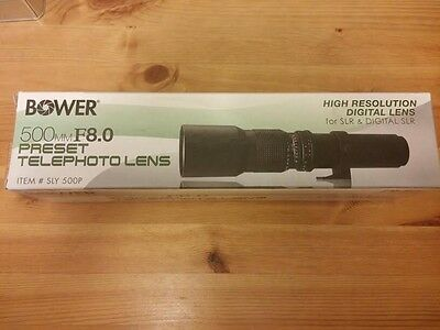 Bower T-Mount 500mm f/8.0 Preset Telephoto Lens, SLY500P