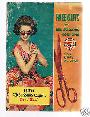 Vintage RED SCISSORS Coupons Catalog 1961 - booklet - Free Gifts For Coupons