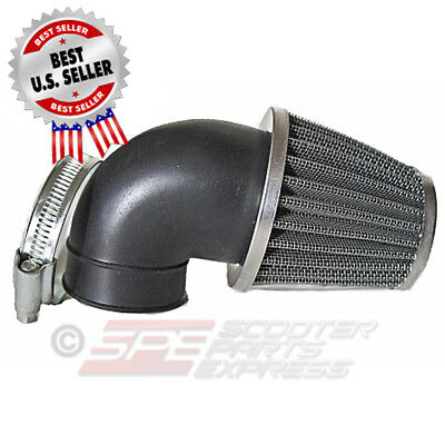 "Air Filter 35mm 1 3/8"" 90 Degree Pod Cone ~ US Seller"