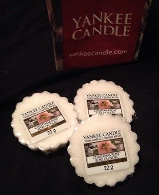 Yankee Candle Christmas Rose Tarts Melts Lot Of 3-new -htf