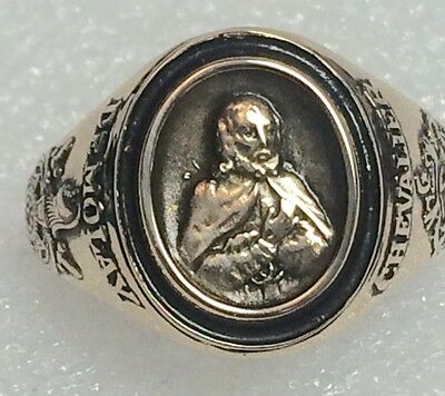 DeMolay Chevalier Ring Balfour Great Condition Size 10.5 yellow gold look