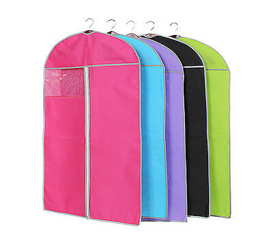 New 8 Colors Dress Clothes Garment Cover Bags Dustproof Travel Storage Protector