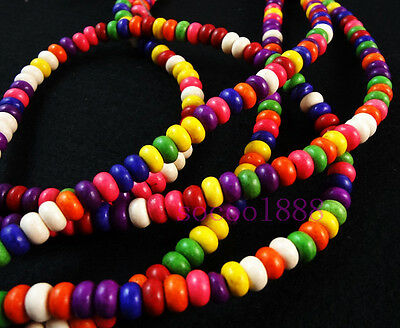 50PCS mixed color turquoise Disc beads  for jewelry making 6x4mm
