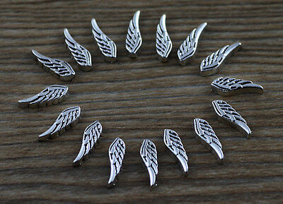 10pcs wing wholesale Floating Charms for Glass Memory Locket necklace e41