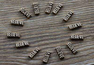10pcs believe wholesale Floating Charms for Glass Memory Locket necklace e43