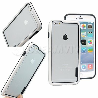Soft Tpu White Hybrid Bumper Cover Case Skin Frame For iPhone 6 Plus 5.5""