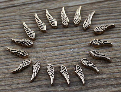 10pcs wing wholesale Floating Charms for Glass Memory Locket necklace e45