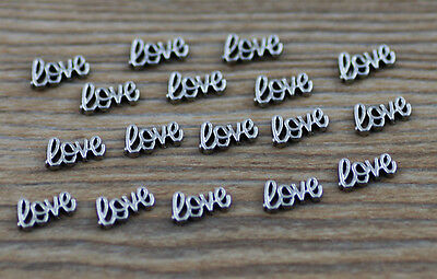 10pcs love wholesale Floating Charms for Glass Memory Locket necklace e46
