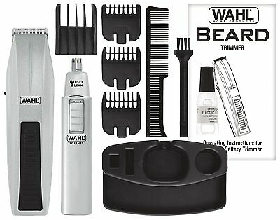 Men's Rechargable Beard and Mustache Hair Trimmer Travel & Groomer NEW WAHL
