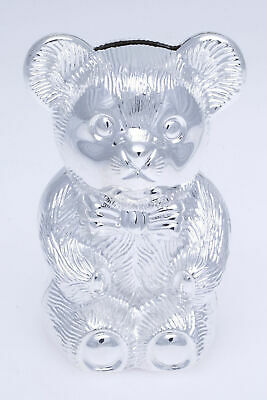 Silver Plated Bear Money Box - Great Gift!