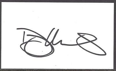 A 13cm x 7.5cm Plain White Card Signed by Danny Mills of Norwich City