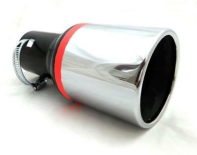 Universal Chrome Exhaust End Muffler Pipe Tip Trim Tail Fit 35-50Mm