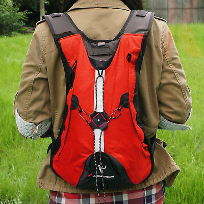 Hydration Water Pack Cycling Backpack Camping Hiking Climbing Pouch Red Sale
