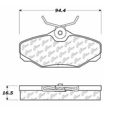 Disc Brake Pad-Posi-Quiet Extended Wear w/Shims & Hrdwr-Preferred Rear Centric
