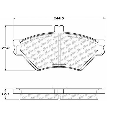 Disc Brake Pad-Posi-Quiet Extended Wear w/Shims & Hrdwr-Preferred Front Centric