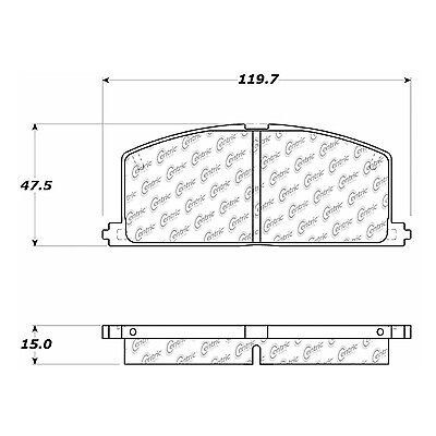 Disc Brake Pad-Posi-Quiet Extended Wear w/Shims & HrdWr Front Centric 106.02420