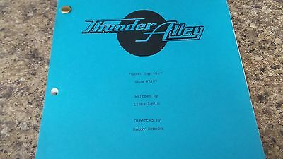 """Thunder Alley Show Original Script """"never Say Die"""" Anette Funicello"""
