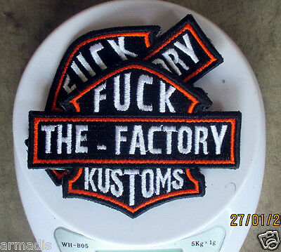 2X FACTORY KUSTOMS Patch WEST COAST CHOPPERS INDIAN LARRY JESSE JAMES BILLY LANE