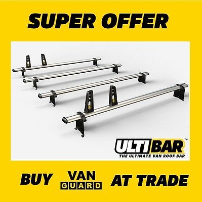 VAUXHALL Movano ROOF BARS 2010 on MWB (L2H2) 4x HD ULTI bars VG286-4-MM