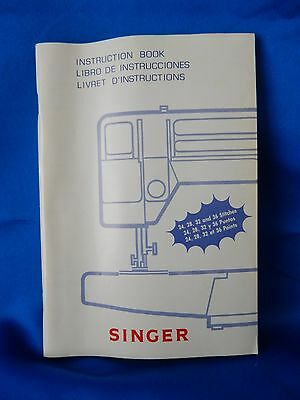 Singer Sewing Machine Instruction Manual - 24, 28, 32 and 36 Stitches 357015-008