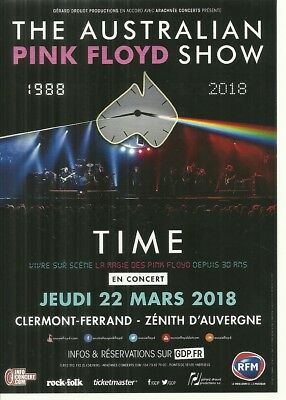 Flyer - The Australian Pink Floyd Show En Concert Live 2018 ( France )