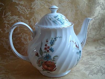 Royal Tuscan Fine Bone China Floral Design Teapot, Made in England