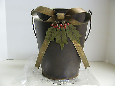Southern Living at Home Berry and Bow Bucket - NEW